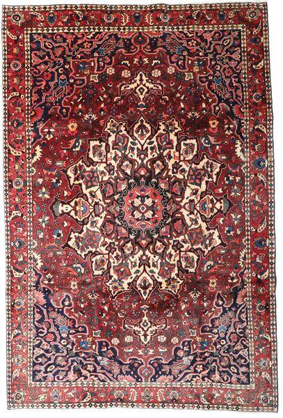 Bakhtiar Vloerkleed 204X306 Echt Oosters Handgeknoopt Donkerbruin/Donkerrood (Wol, Perzië/Iran)