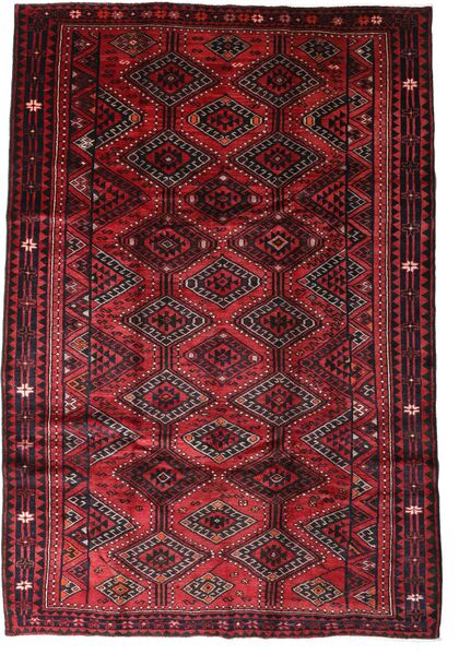 Lori Vloerkleed 207X302 Echt Oosters Handgeknoopt Donkerrood/Rood (Wol, Perzië/Iran)