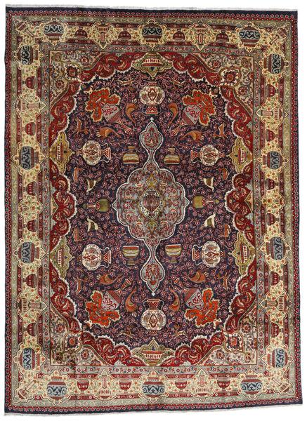Kashmar Vloerkleed 294X396 Echt Oosters Handgeknoopt Donkerrood/Donkerbruin/Lichtbruin Groot (Wol, Perzië/Iran)