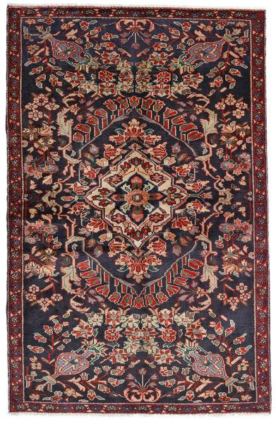 Bakhtiar Vloerkleed 133X205 Echt Oosters Handgeknoopt Donkergrijs/Donkerrood (Wol, Perzië/Iran)