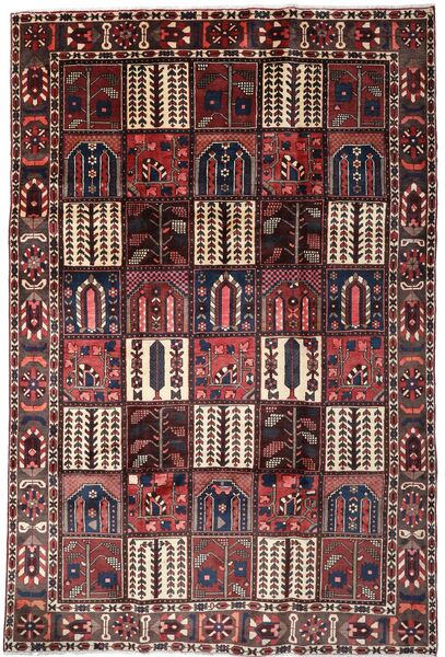 Bakhtiar Vloerkleed 208X306 Echt Oosters Handgeknoopt Donkerbruin/Donkerrood (Wol, Perzië/Iran)