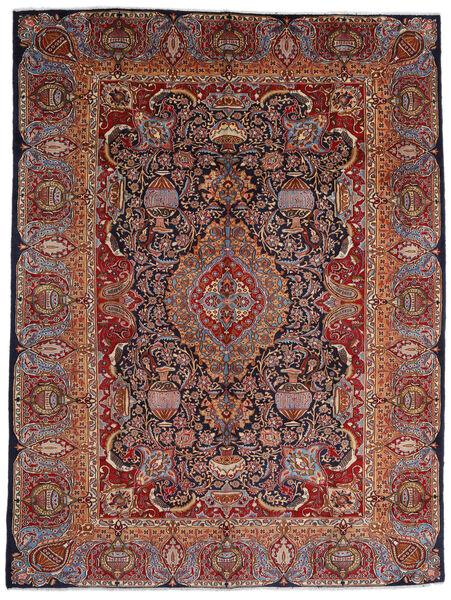 Kashmar Vloerkleed 289X386 Echt Oosters Handgeknoopt Donkerrood/Donkerbruin Groot (Wol, Perzië/Iran)