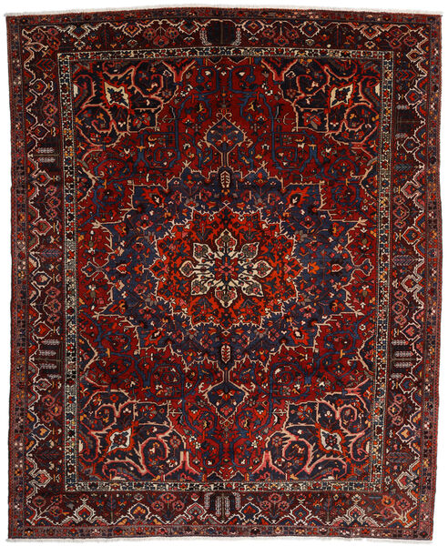 Bakhtiar Vloerkleed 310X382 Echt Oosters Handgeknoopt Donkerrood Groot (Wol, Perzië/Iran)