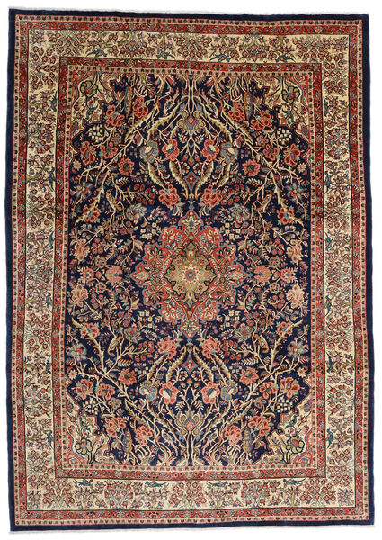 Sarough Vloerkleed 277X387 Echt Oosters Handgeknoopt Donkerbruin/Lichtbruin Groot (Wol, Perzië/Iran)