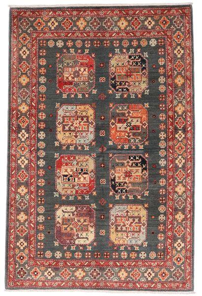 Kazak Vloerkleed 118X179 Echt Oosters Handgeknoopt Donkerrood/Donkergrijs (Wol, Afghanistan)