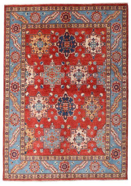 Kazak Vloerkleed 144X203 Echt Oosters Handgeknoopt Donkerrood/Roestkleur (Wol, Afghanistan)