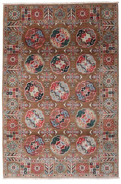 Kazak Vloerkleed 117X176 Echt Oosters Handgeknoopt Donkerrood/Donkerbruin (Wol, Afghanistan)