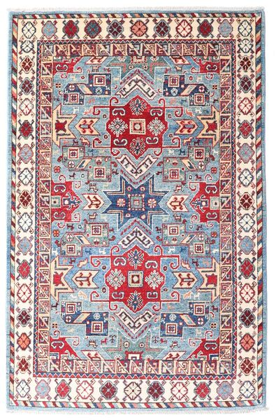 Kazak Vloerkleed 121X186 Echt Oosters Handgeknoopt Wit/Creme/Roze (Wol, Afghanistan)