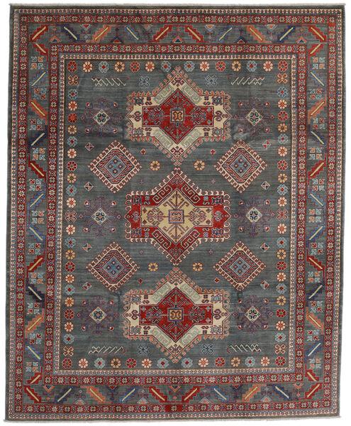 Kazak Vloerkleed 243X297 Echt Oosters Handgeknoopt Donkergrijs/Donkerrood (Wol, Afghanistan)