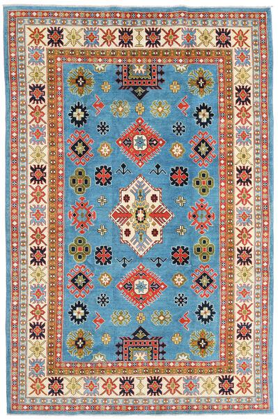 Kazak Vloerkleed 208X315 Echt Oosters Handgeknoopt Turquoise Blauw/Beige (Wol, Afghanistan)