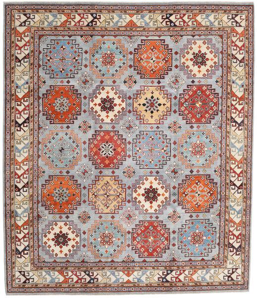 Kazak Vloerkleed 255X295 Echt Oosters Handgeknoopt Lichtgrijs/Lichtbruin Groot (Wol, Afghanistan)