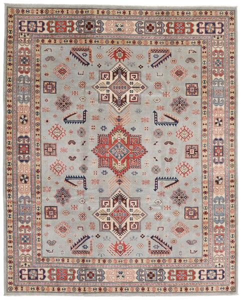 Kazak Vloerkleed 244X299 Echt Oosters Handgeknoopt Lichtgrijs/Lichtbruin (Wol, Afghanistan)