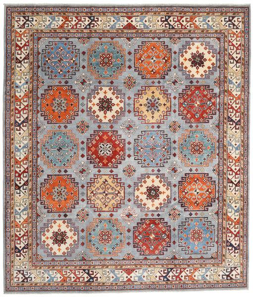 Kazak Vloerkleed 254X294 Echt Oosters Handgeknoopt Lichtbruin/Lichtgrijs Groot (Wol, Afghanistan)