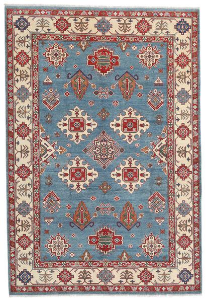 Kazak Vloerkleed 183X269 Echt Oosters Handgeknoopt Donkerbruin/Blauw (Wol, Afghanistan)