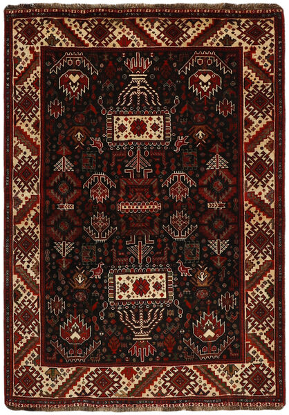 Ghashghai Vloerkleed 118X167 Echt Oosters Handgeknoopt Donkerbruin (Wol, Perzië/Iran)