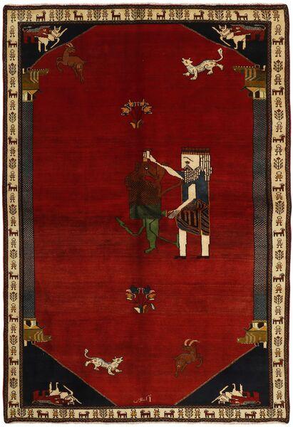 Ghashghai Vloerkleed 192X283 Echt Oosters Handgeknoopt Donkerrood/Rood (Wol, Perzië/Iran)