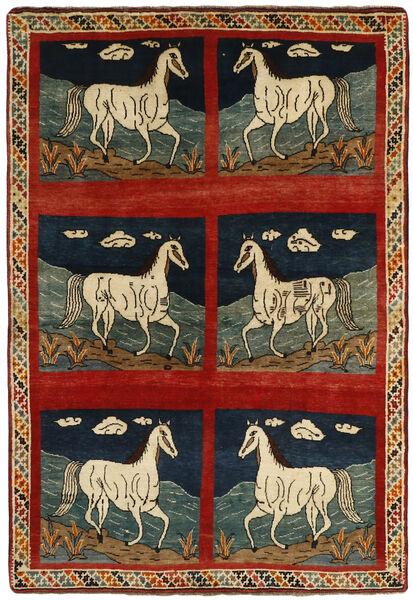 Ghashghai Vloerkleed 149X220 Echt Oosters Handgeknoopt Donkergrijs/Roestkleur (Wol, Perzië/Iran)