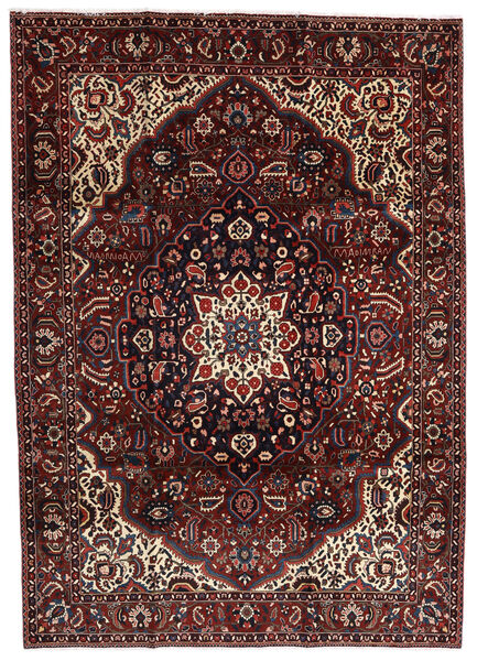 Bakhtiar Vloerkleed 214X303 Echt Oosters Handgeknoopt Donkerrood/Donkerbruin (Wol, Perzië/Iran)
