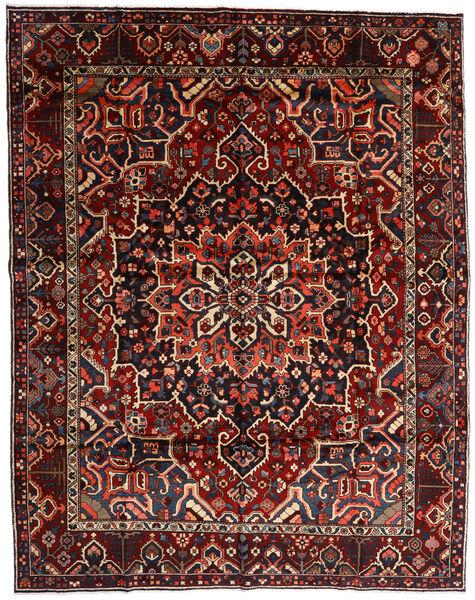 Bakhtiar Vloerkleed 303X390 Echt Oosters Handgeknoopt Donkerrood Groot (Wol, Perzië/Iran)