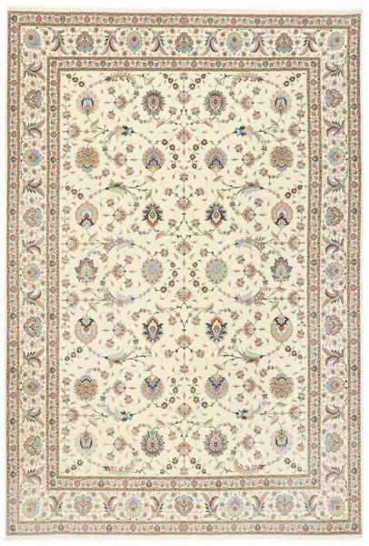 Tabriz 50 Raj Met Zijde Vloerkleed 250X352 Echt Oosters Handgeknoopt Lichtgrijs/Beige Groot (Wol/Zijde, Perzië/Iran)