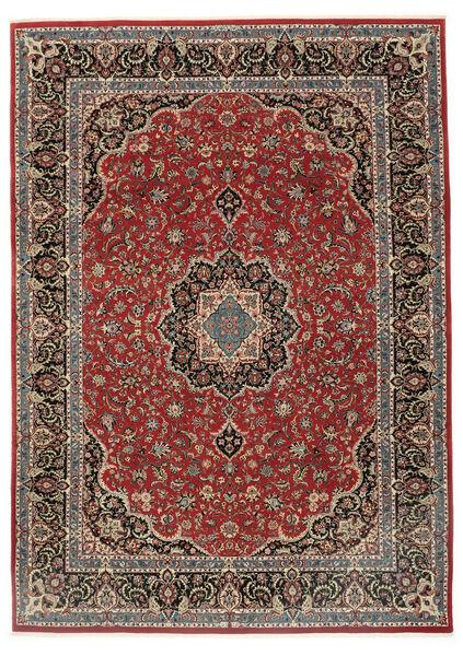 Ilam Sherkat Farsh Vloerkleed 248X340 Echt Oosters Handgeknoopt Donkerrood/Donkergrijs (Wol/Zijde, Perzië/Iran)