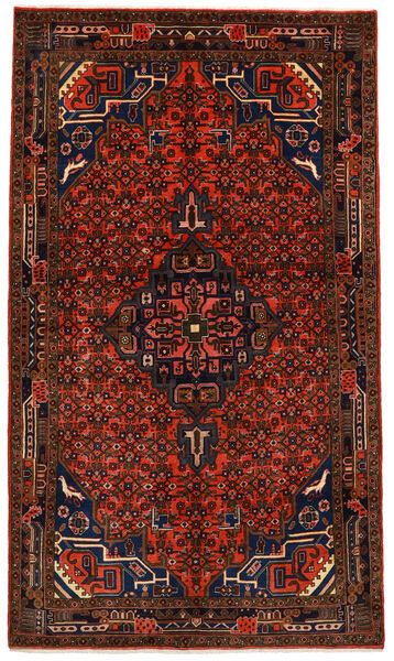 Koliai Vloerkleed 145X252 Echt Oosters Handgeknoopt Donkerbruin/Donkerrood (Wol, Perzië/Iran)