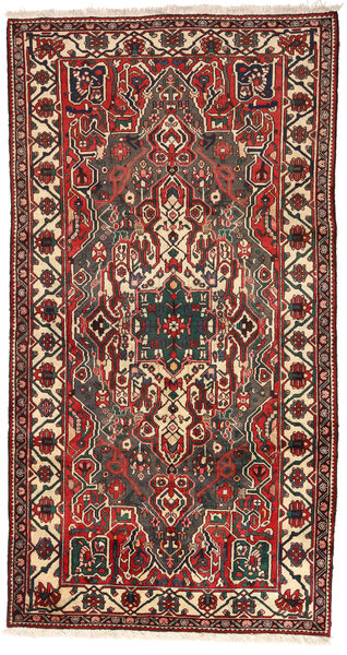 Bakhtiar Vloerkleed 160X300 Echt Oosters Handgeknoopt Tapijtloper Donkergrijs/Donkerrood (Wol, Perzië/Iran)