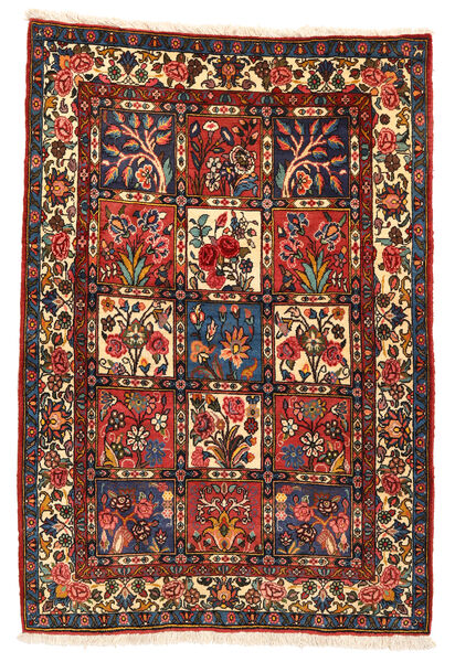 Bakhtiar Collectible Vloerkleed 106X152 Echt Oosters Handgeknoopt Donkerrood/Zwart (Wol, Perzië/Iran)