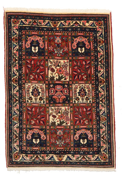Bakhtiar Collectible Vloerkleed 105X148 Echt Oosters Handgeknoopt Zwart/Donkerbruin (Wol, Perzië/Iran)
