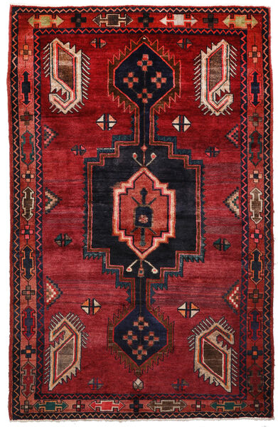 Kurdi Vloerkleed 148X233 Echt Oosters Handgeknoopt Donkerrood/Zwart (Wol, Perzië/Iran)