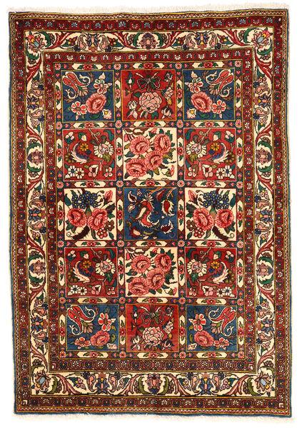 Bakhtiar Collectible Vloerkleed 103X148 Echt Oosters Handgeknoopt Donkerrood/Beige (Wol, Perzië/Iran)