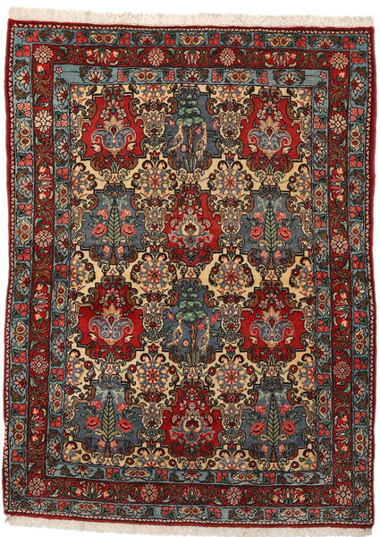 Bakhtiar Collectible Vloerkleed 108X148 Echt Oosters Handgeknoopt Donkerbruin/Donkergrijs (Wol, Perzië/Iran)