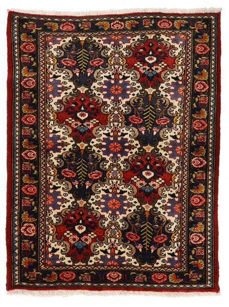 Bakhtiar Collectible Vloerkleed 110X142 Echt Oosters Handgeknoopt Zwart/Roestkleur (Wol, Perzië/Iran)