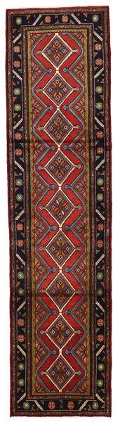 Koliai Vloerkleed 80X318 Echt Oosters Handgeknoopt Tapijtloper Donkerrood/Zwart (Wol, Perzië/Iran)