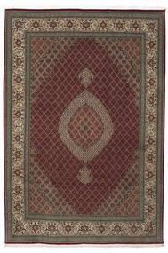 Tabriz 50 Raj Met Zijde Vloerkleed 210X310 Echt Oosters Handgeknoopt Donkerrood/Lichtbruin (Wol/Zijde, Perzië/Iran)