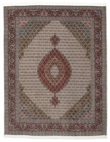Tabriz 50 Raj Met Zijde Vloerkleed 203X258 Echt Oosters Handgeknoopt Donkerbruin/Donkergrijs (Wol/Zijde, Perzië/Iran)