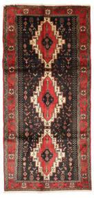 Kurdi Vloerkleed 150X318 Echt Oosters Handgeknoopt Donkerbruin/Zwart (Wol, Perzië/Iran)