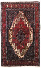 Senneh Vloerkleed 128X210 Echt Oosters Handgeknoopt Donkerbruin/Donkerrood (Wol, Perzië/Iran)