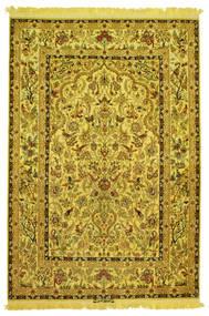 Isfahan Zijde Schering Figuratief/Geïllustreerd Getekend: Nasr Vloerkleed 142X210 Echt Oosters Handgeknoopt (Wol/Zijde, Perzië/Iran)