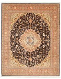 Tabriz 50 Raj Met Zijde Vloerkleed 247X305 Echt Oosters Handgeknoopt Lichtbruin/Bruin (Wol/Zijde, Perzië/Iran)