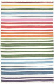 Rainbow Stripe - Wit Vloerkleed 200X300 Echt Modern Handgeweven Wit/Creme (Katoen, India)