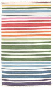 Rainbow Stripe - Wit Vloerkleed 180X280 Echt Modern Handgeweven Beige/Wit/Creme (Katoen, India)
