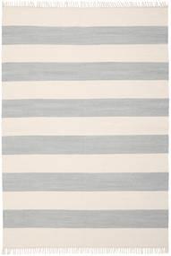 Cotton Stripe - Steel Grey Vloerkleed 160X230 Echt Modern Handgeweven Lichtgrijs/Beige (Katoen, India)