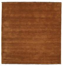 Handloom Fringes - Bruin Vloerkleed 250X250 Modern Vierkant Bruin/Donkerbruin Groot (Wol, India)