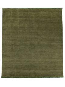 Handloom Fringes - Groen Vloerkleed 250X300 Modern Olijfgroen Groot (Wol, India)