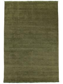 Handloom Fringes - Groen Vloerkleed 200X300 Modern Olijfgroen/Donkergroen (Wol, India)