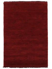 Handloom Fringes - Donkerrood Vloerkleed 200X300 Modern Rood (Wol, India)
