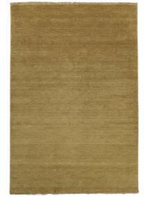Handloom Fringes - Olijfgroen Vloerkleed 160X230 Modern Olijfgroen (Wol, India)