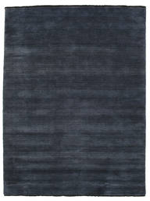 Handloom Fringes - Donkerblauw Vloerkleed 160X230 Modern Donkerblauw (Wol, India)