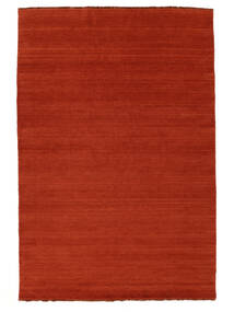 Handloom Fringes - Roestkleur/Rood Vloerkleed 160X230 Modern Roestkleur/Oranje (Wol, India)